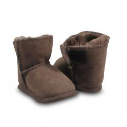 Chic Empire Velcro Baby Booties - Chocolate