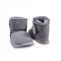 Chic Empire Velcro Baby Booties - Grey
