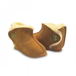 Chic Empire Bilby Baby Booties - Chestnut