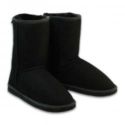 Chic Empire  Classic 3/4 Sheepskin Boots - Black
