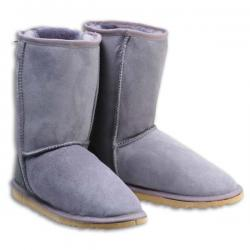 Chic Empire  Classic 3/4 Sheepskin Boots - Grey