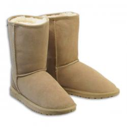 Chic Empire  Classic 3/4 Sheepskin Boots - Sand