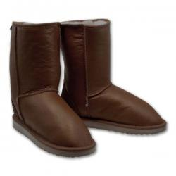 Chic Empire Classic Bomber Tall Sheepskin Boots - Chocolate