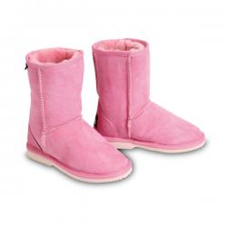 Chic Empire Classic Kids Sheepskin Boots - Candy Pink