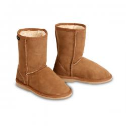 Chic Empire Classic Kids Sheepskin Boots - Chestnut