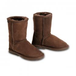 Chic Empire Classic Kids Sheepskin Boots - Chocolate