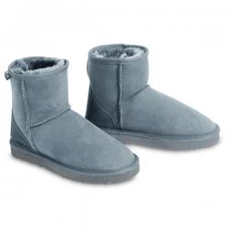 Classic Mini Sheepskin Boots - Grey