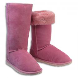 Chic Empire Classic Tall Sheepskin Boots - Candy Pink