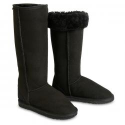 Chic Empire Classic Ultra Tall Sheepskin Boots - Black