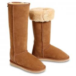Chic Empire Classic Ultra Tall Sheepskin Boots - Chestnut