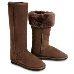 Chic Empire Classic Ultra Tall Sheepskin Boots - Chocolate