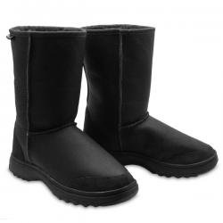Chic Empire Offroader Bomber 3/4 Sheepskin Boots - Black
