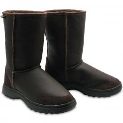 Chic Empire Offroader Bomber 3/4 Sheepskin Boots - Chocolate