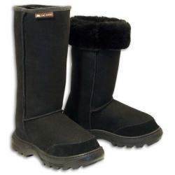Offroader Tall Sheepskin Boots - Black