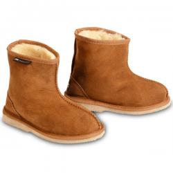 Chic Empire  Rip Kids Sheepskin Boots - Chestnut