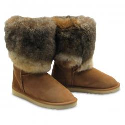 Chic Empire  Tundra 3/4 Sheepskin Boots - Chestnut
