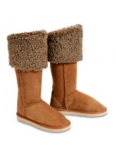 Chic Empire Duchess Ultra Tall Sheepskin Boots - Chestnut
